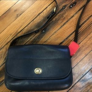 Vintage Coach black crossbody handbag